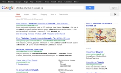 "Google search for ""Christian churches"" in Norwalk CA"